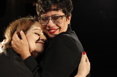 Sao Paulo, SP, Brasil. Data 27-05-2016. Diretora Eugenia Thereza Andrade e Atriz e Diretora Mika Lins. Teatro Anchieta. Foto Lenise Pinheiro/Folhapress