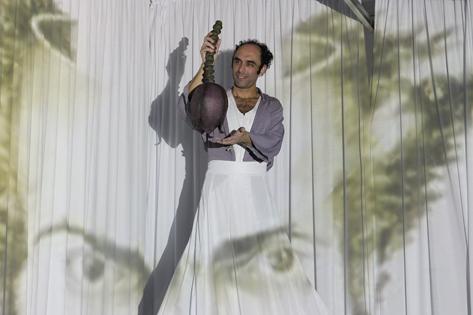 Sao Paulo, SP, Brasil. Data 22-05-2016. Espetaculo Requiem para um Amigo da Multidão. Ator Nei Gomes. Teatro Flavio Imperio. Foto Lenise Pinheiro/Folhapress