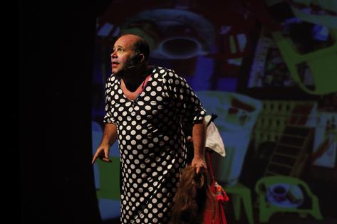 Sao Paulo, SP, Brasil. Data 07-02-2016. Espetáculo A Vida Sexual da Mulher Feia. Ator Otávio Muller. Teatro Folha. Foto Lenise Pinheiro/Divulgação