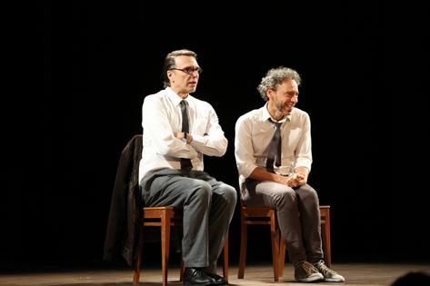Sao Paulo, SP, Brasil. Data 14-04-2016. Espetaculo Inon It. Atores Emílio de Melo e Fernando Eiras. Teatro Jaragua. Foto Lenise Pinheiro/Folhapress